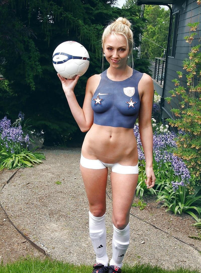 American football girl nude